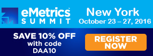 eMetrics Summit New York 2016, The Future of Marketing Analytics